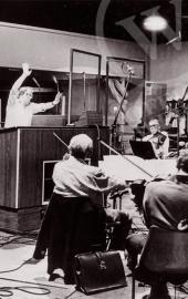 1977, séance d'enregistrement de la musique de JULIA